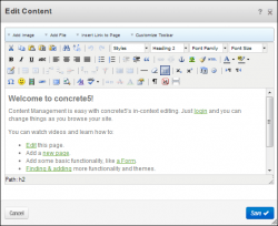 Word like content editor