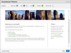 Customise website layout